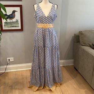 J Crew Point Sur Print Maxi Dress